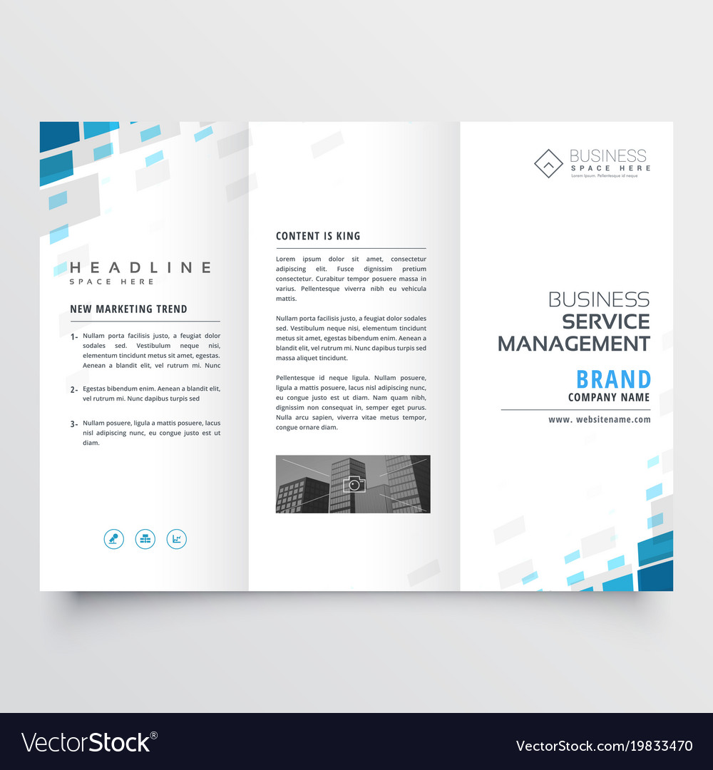 Simple trifold business brochure template design vector image wajeb Images