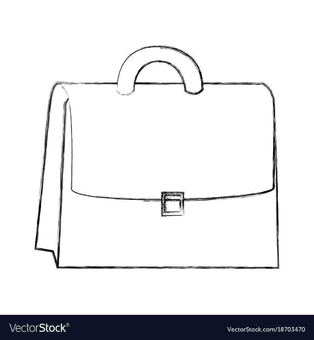Sketch draw suitcase cartoon