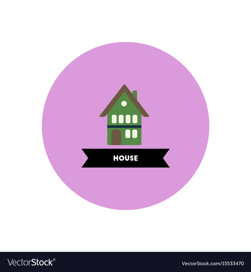 Stylish icon in color circle building house Vector Image