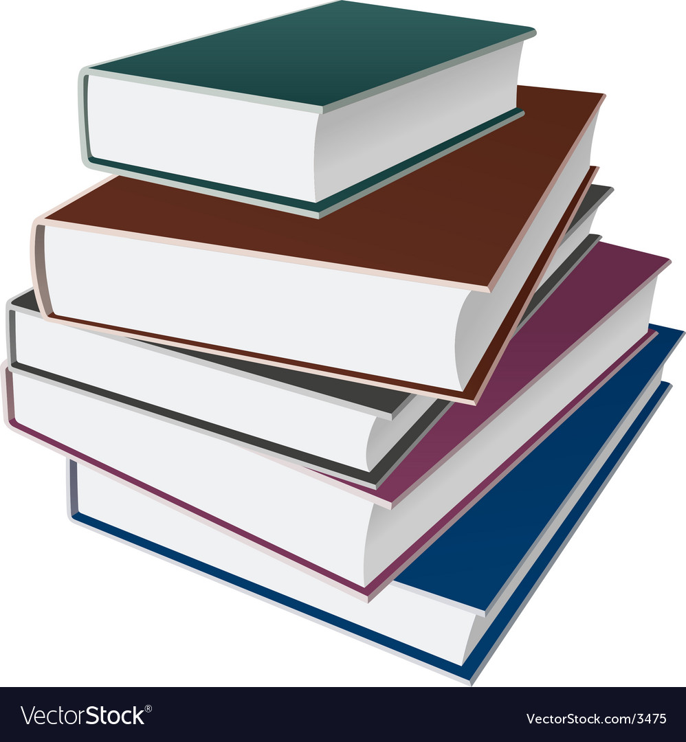 Books notebooks vector image