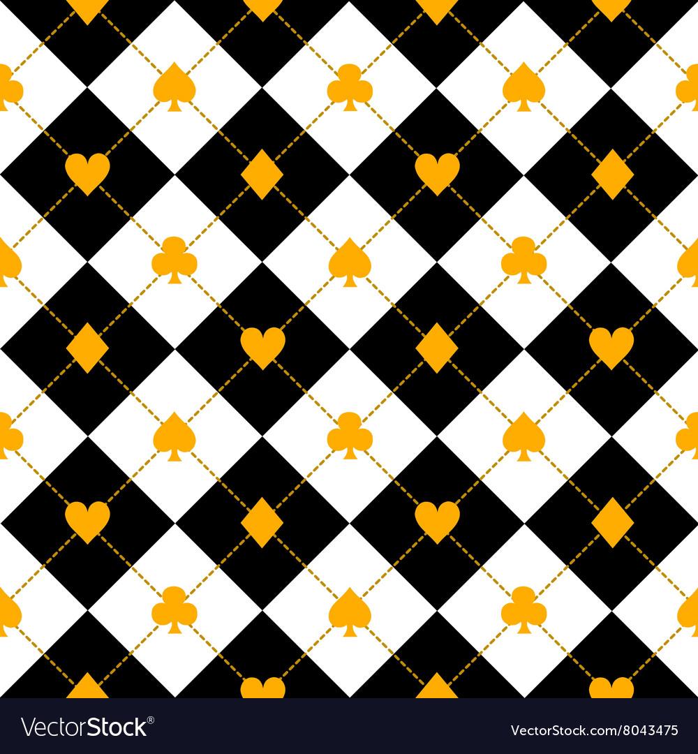 Card Suits Black Royal White Diamond vector image