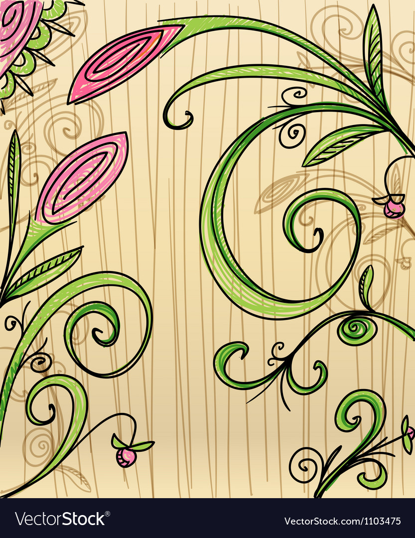 Hand-drawn floral background