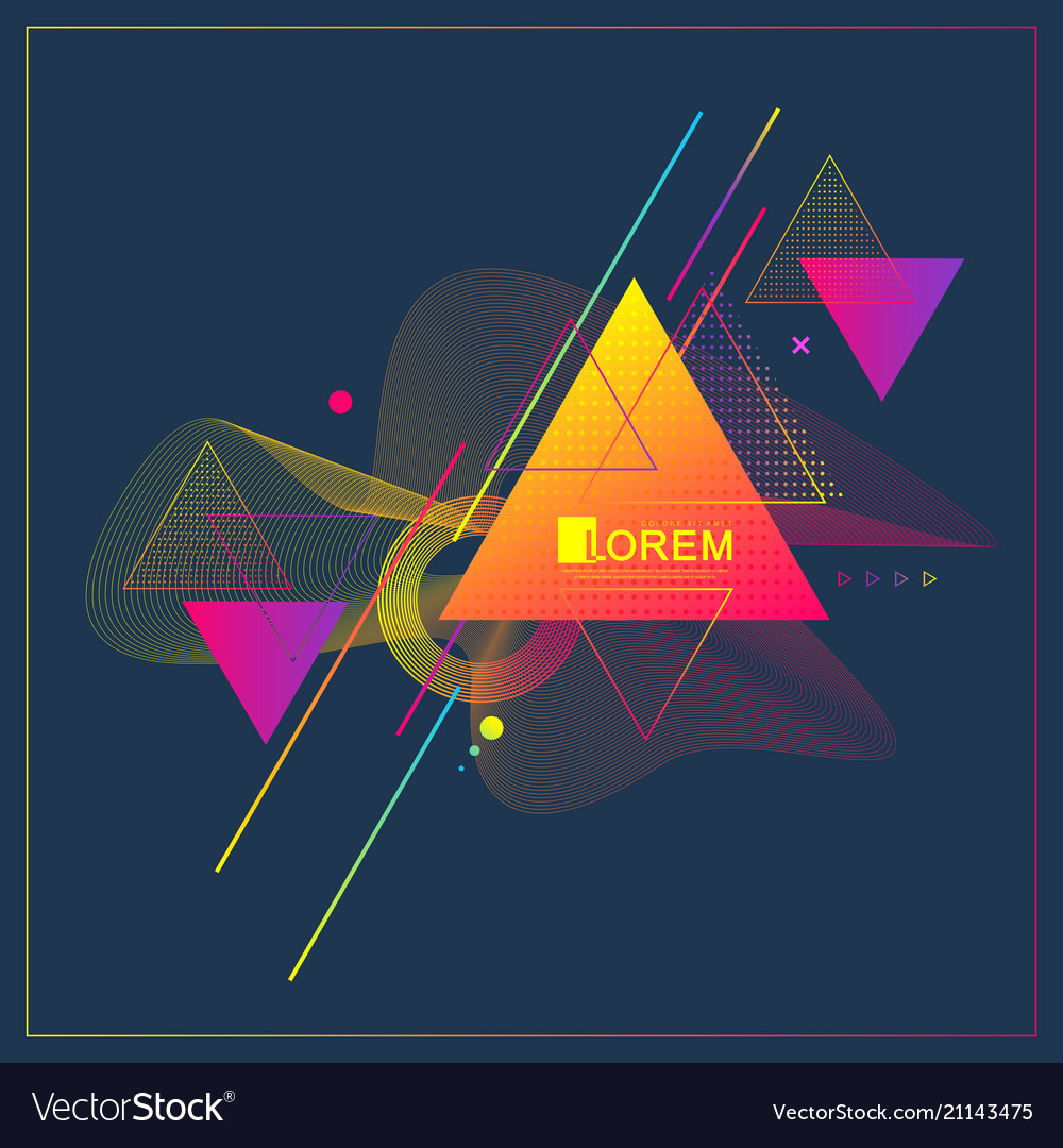 Modern abstract triangle geometric pattern design