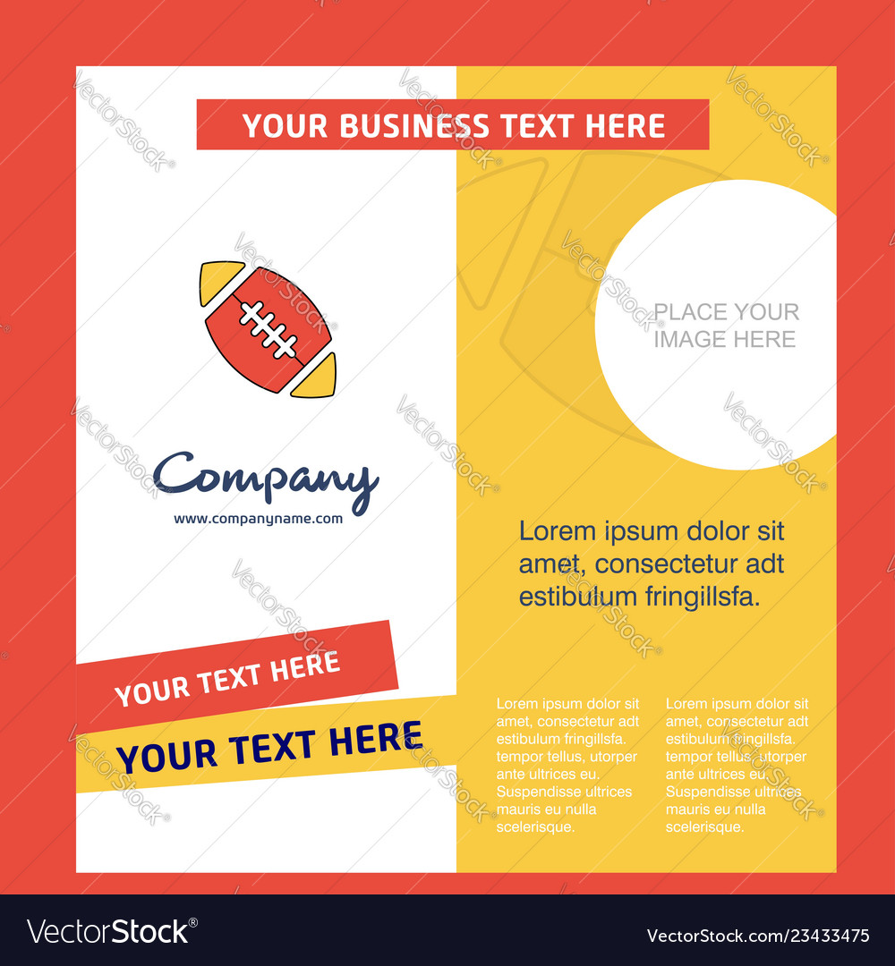 Rugby ball company brochure template busienss