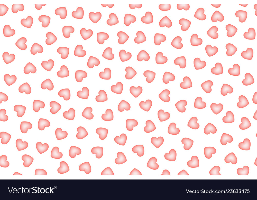 Simple hearts seamless pattern