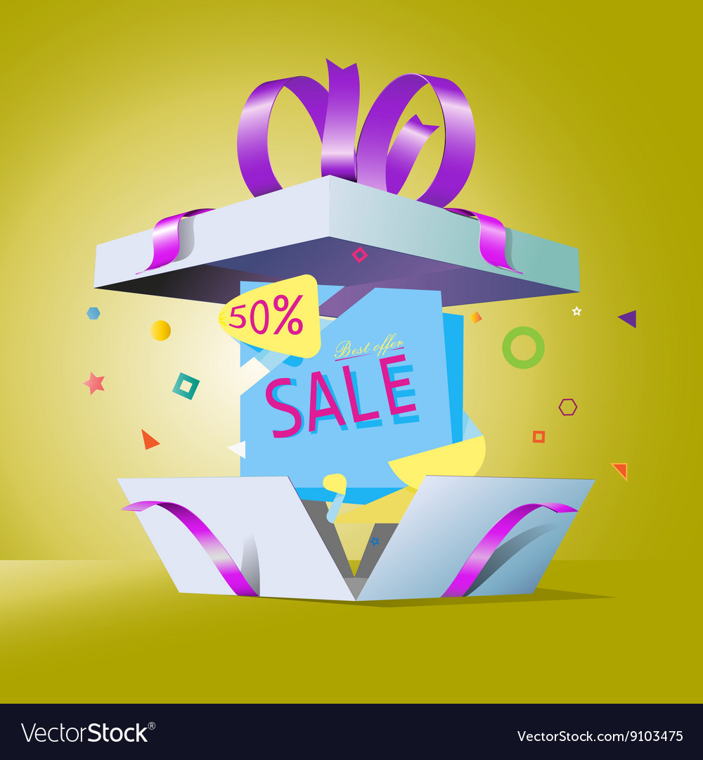 Special Offer In A Gift Box Royalty Free Vector Image