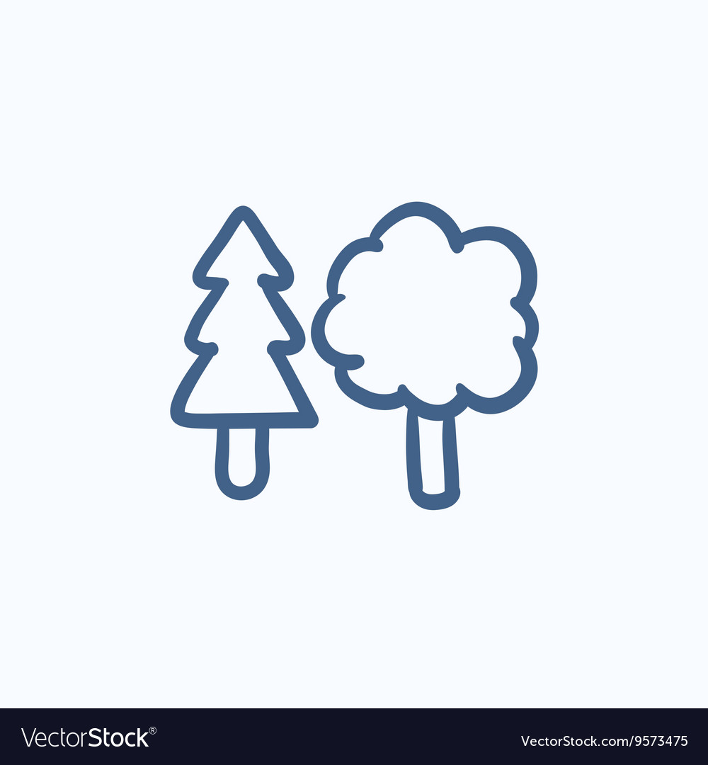 Trees sketch icon