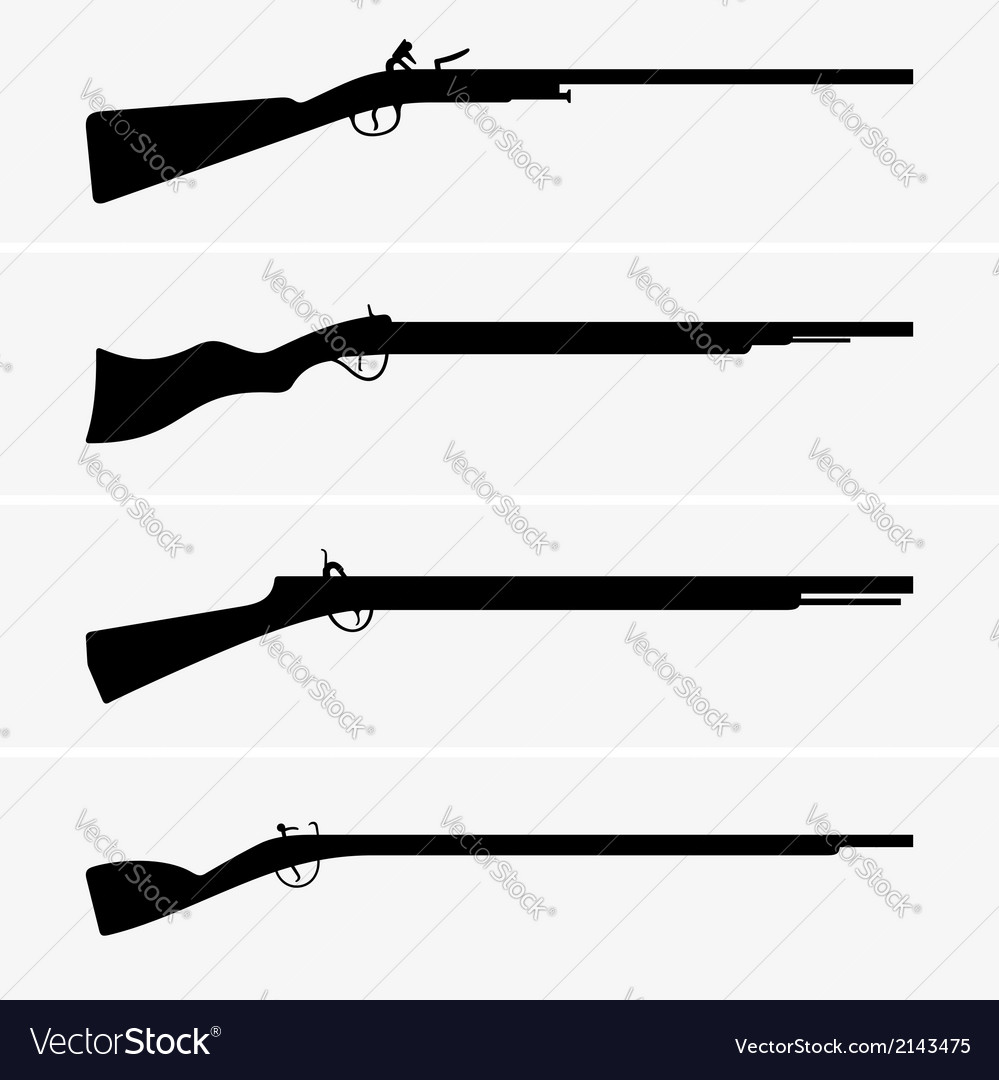 Vintage guns vector image