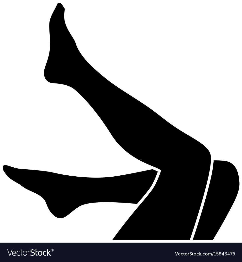 Woman legs silhouette Royalty Free Vector Image