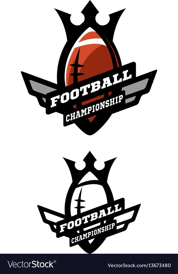 American football two options logo