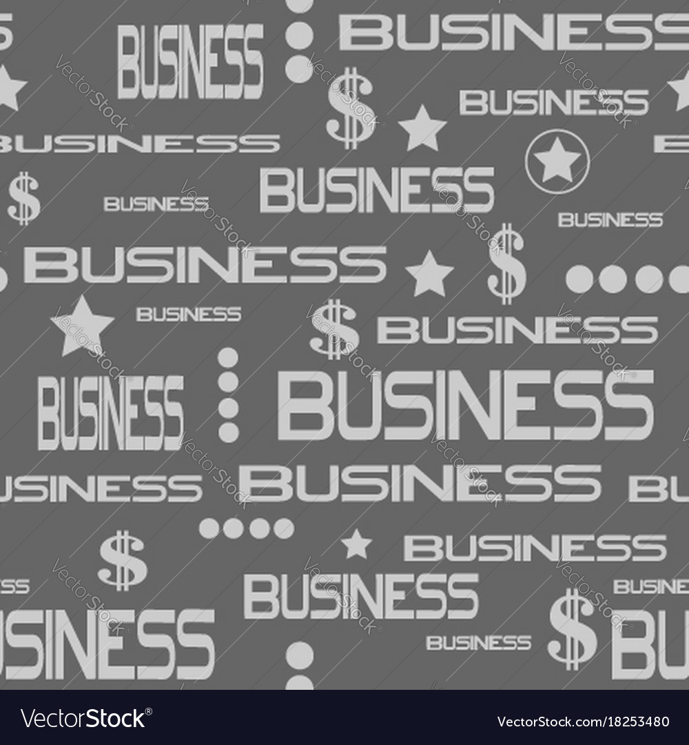Business concept seamless pattern