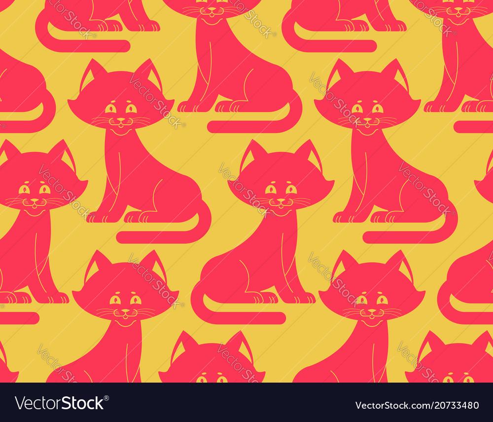 Cat seamless pattern pet ornament animal texture