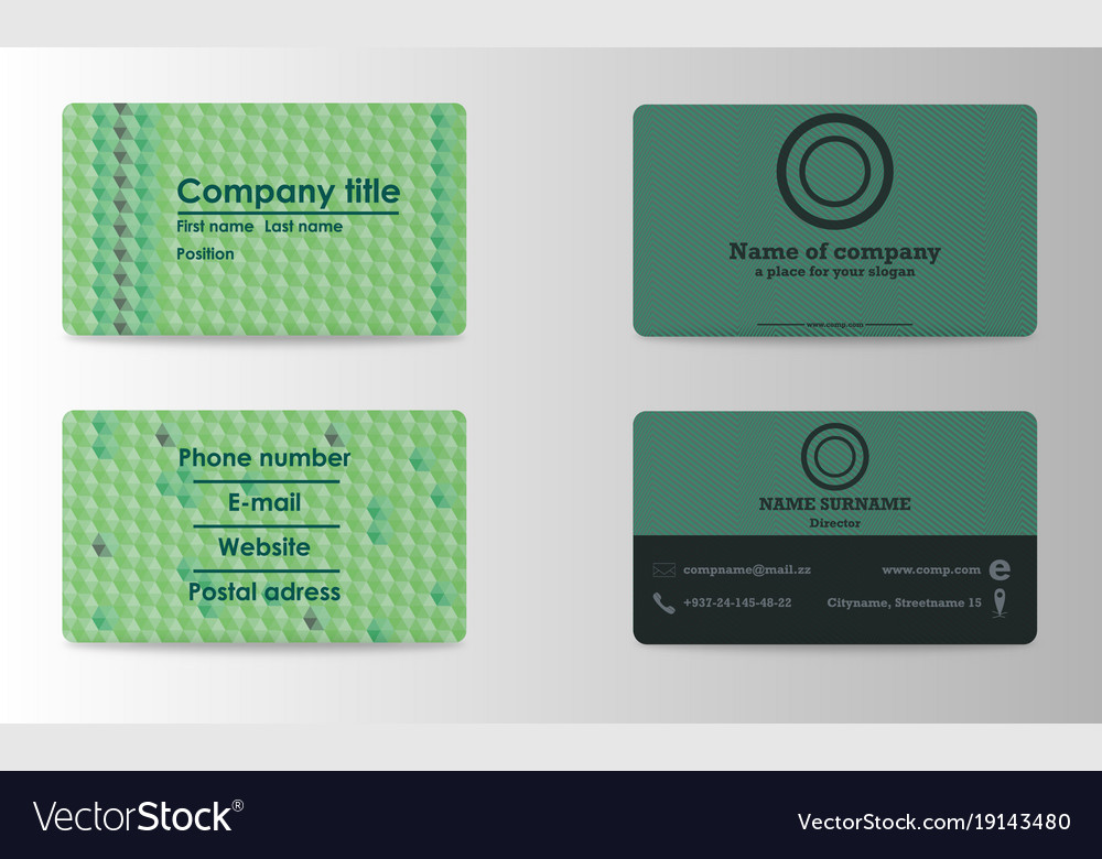 Colorful stylish business card print template Vector Image