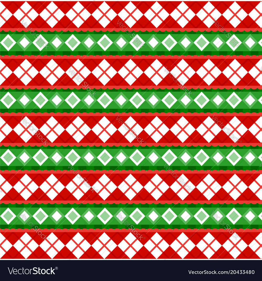 Cute christmas or new year pattern with diamond