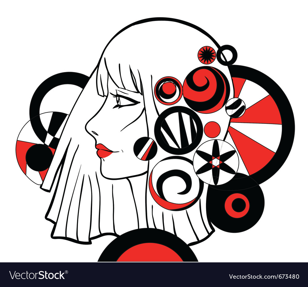 Girl with graphic elements