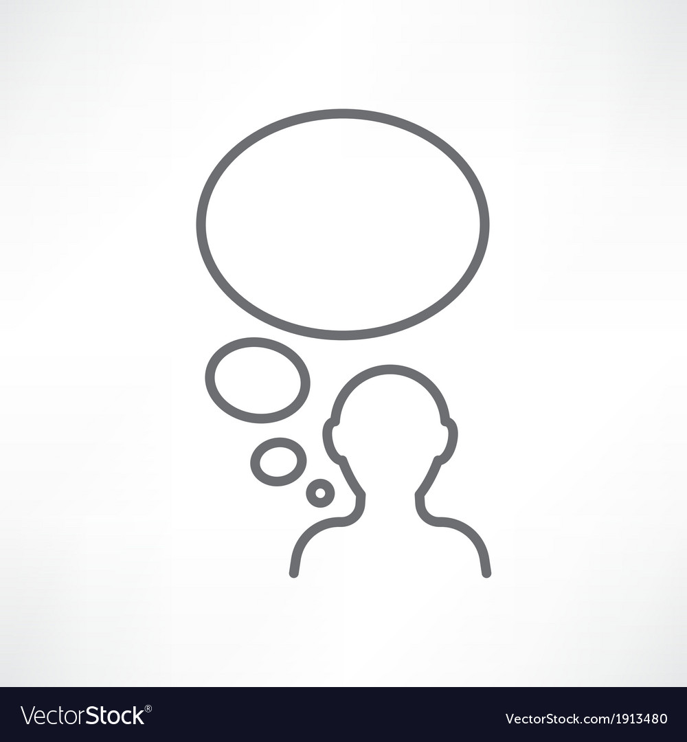 One man thinking vector image