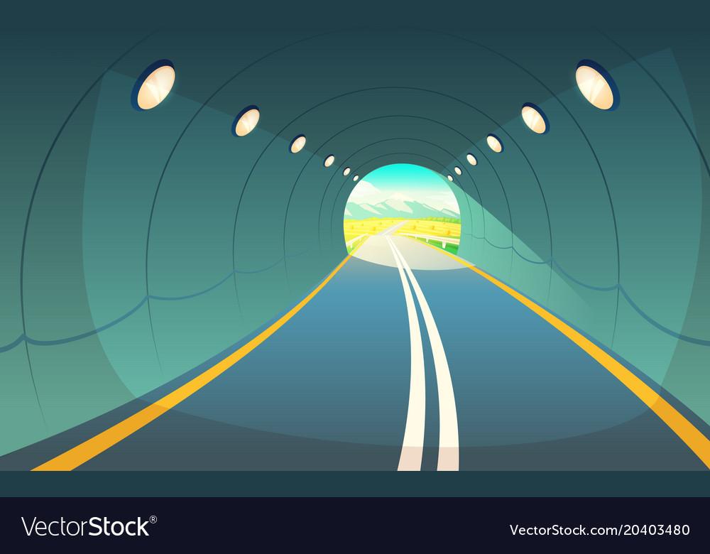 tunnel highway royalty free vector image - vectorstock  vectorstock