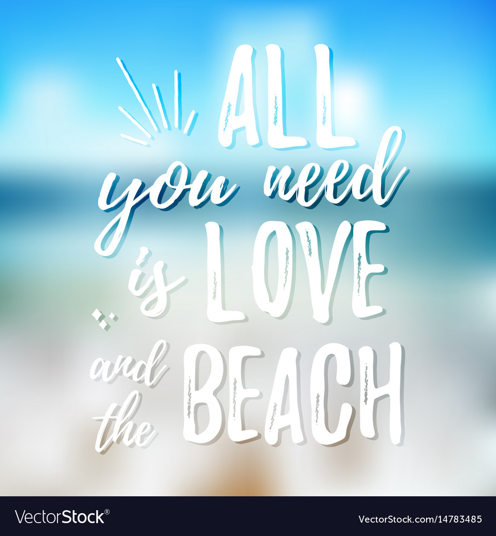 All you need is love and the beach design element