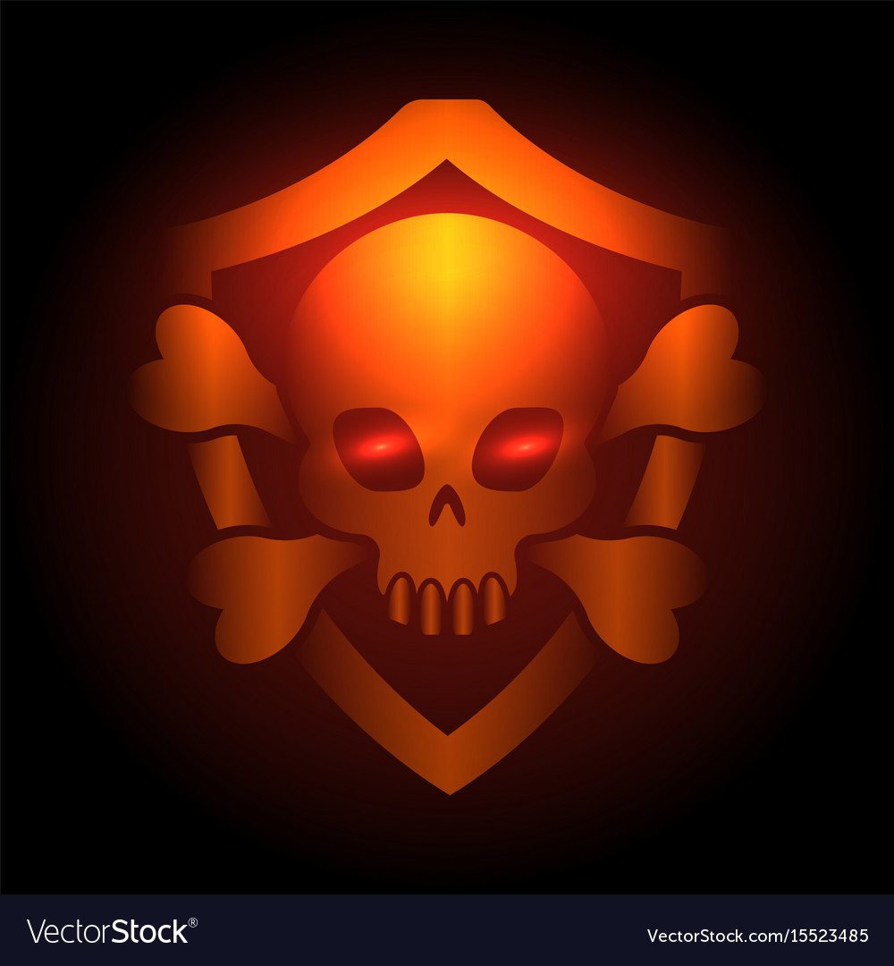 Biker club poster with skull emblem vector