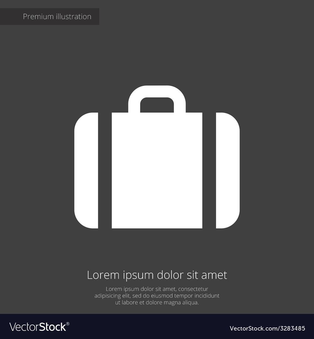 Case premium icon white on dark background