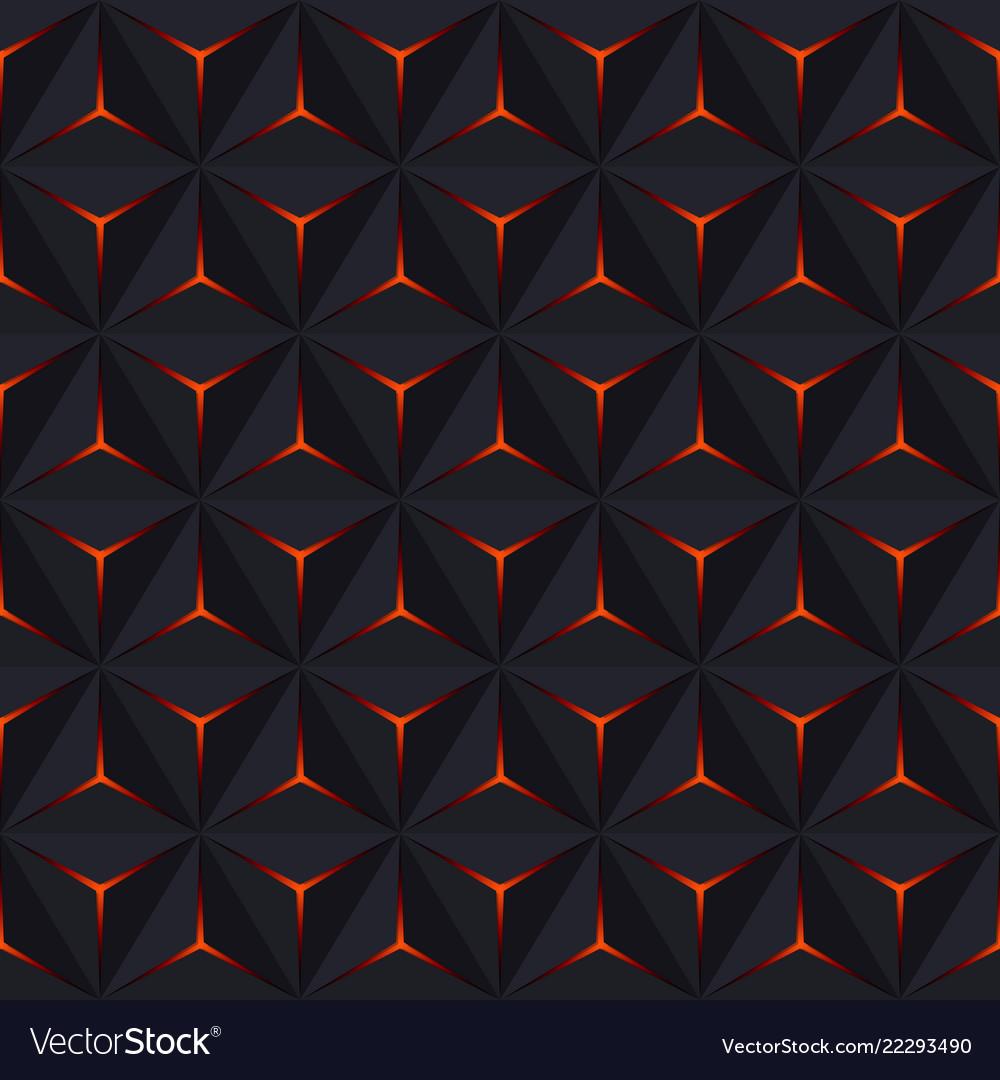 Abstract dark seamless pattern geometric