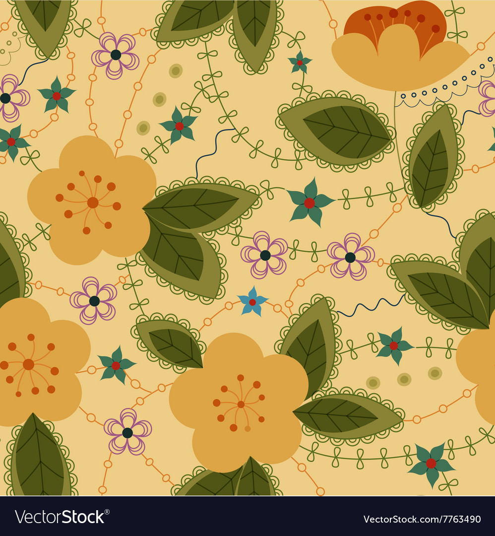 Apple-flowers-retro-Converted vector image