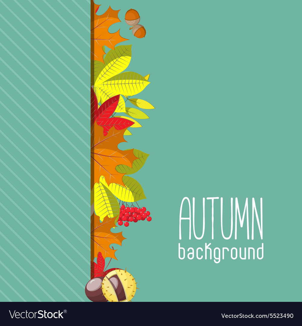 Autumn background for invitation or ad template