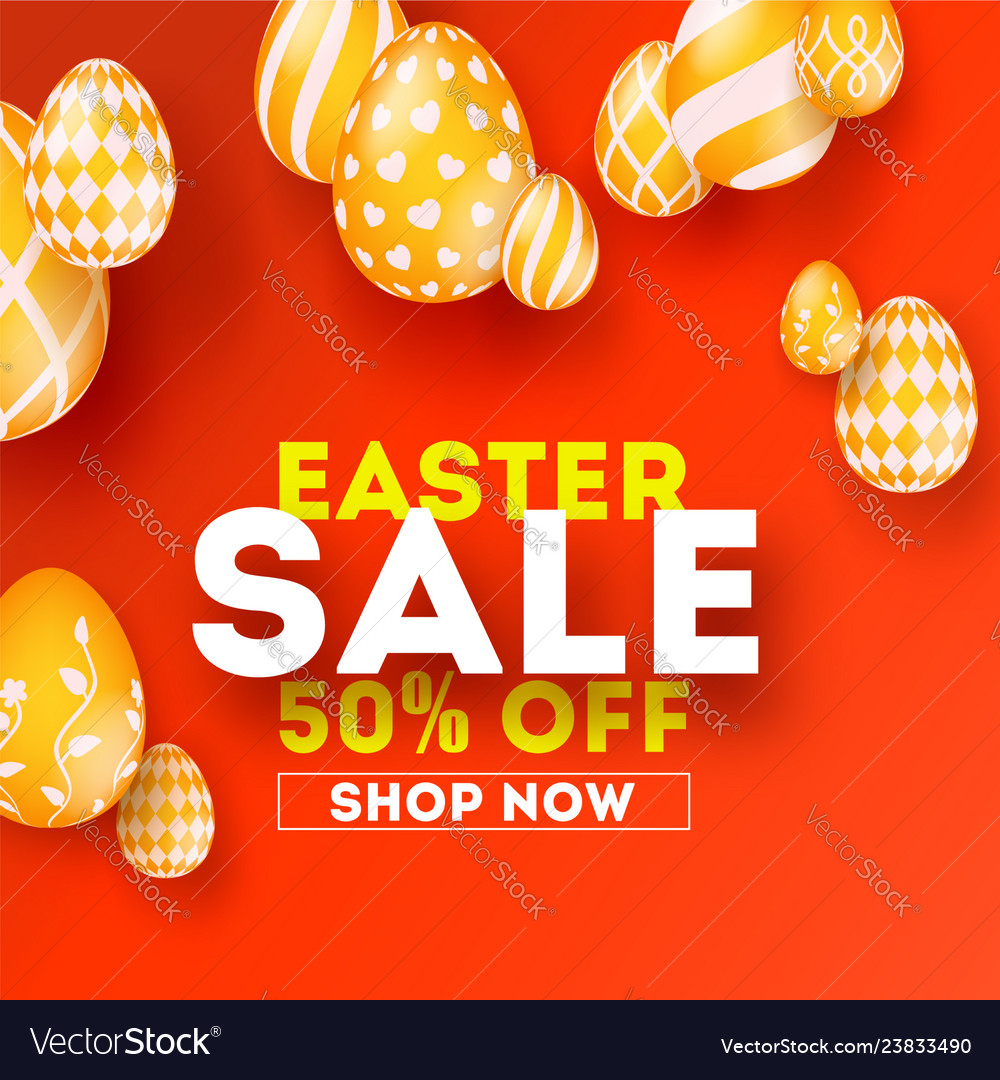 Easter sale special holiday offer creative