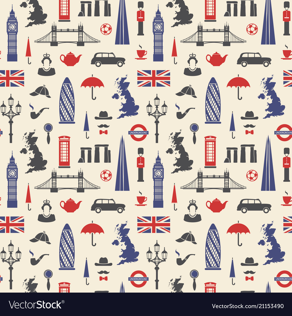 England london uk seamless background
