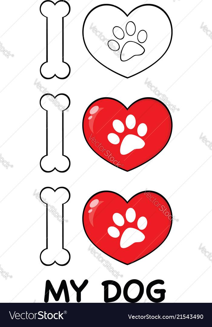 I love paw print logo design 04 collection
