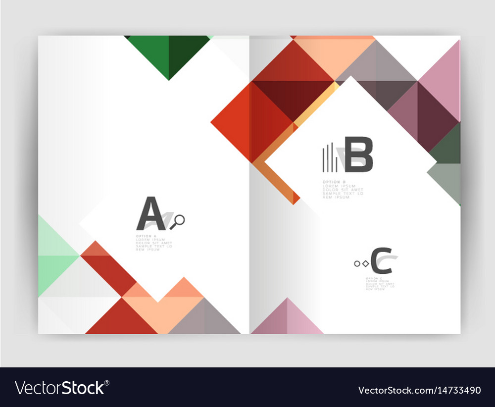 Modern minimalistic geometrical square business vector image