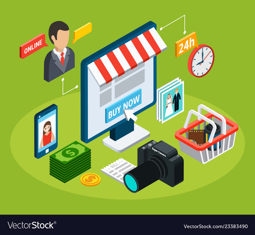 Online electronic store composition
