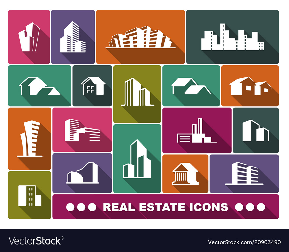 Real estate logo set vector image