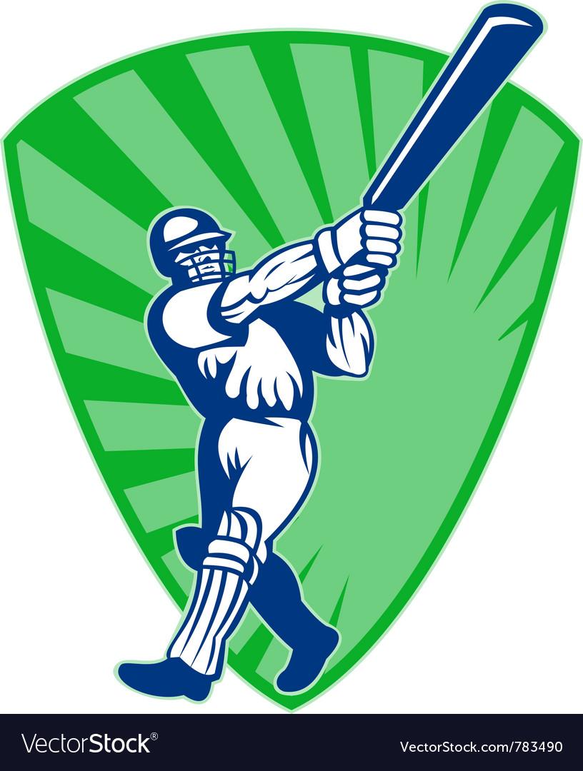 Retro cricket shield