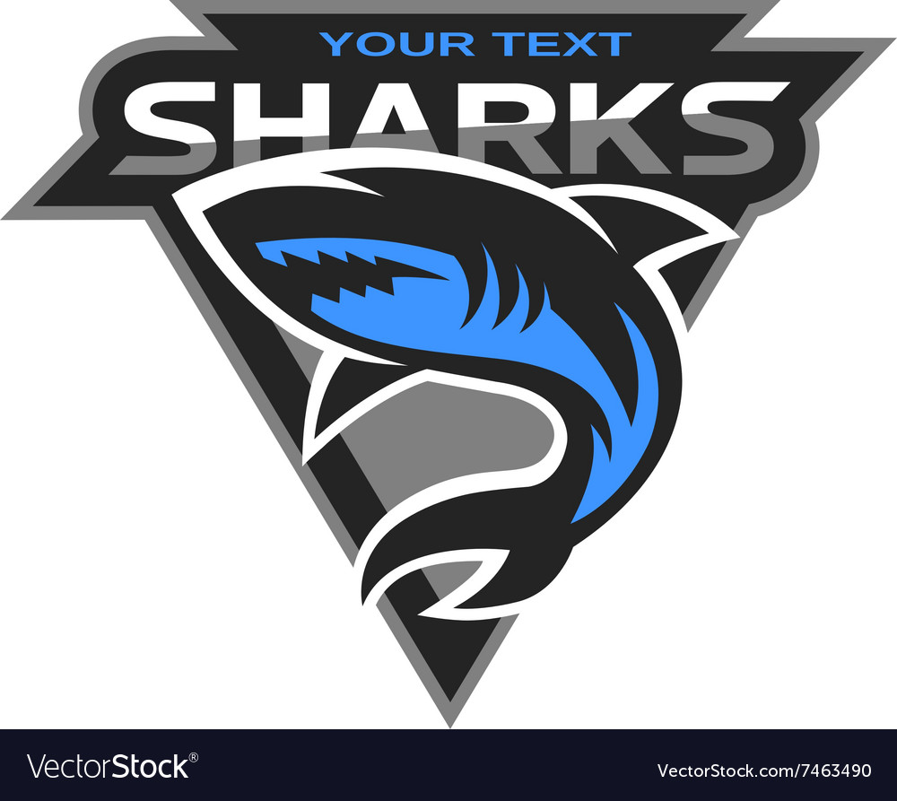 Sharks logo for a sport team vector image