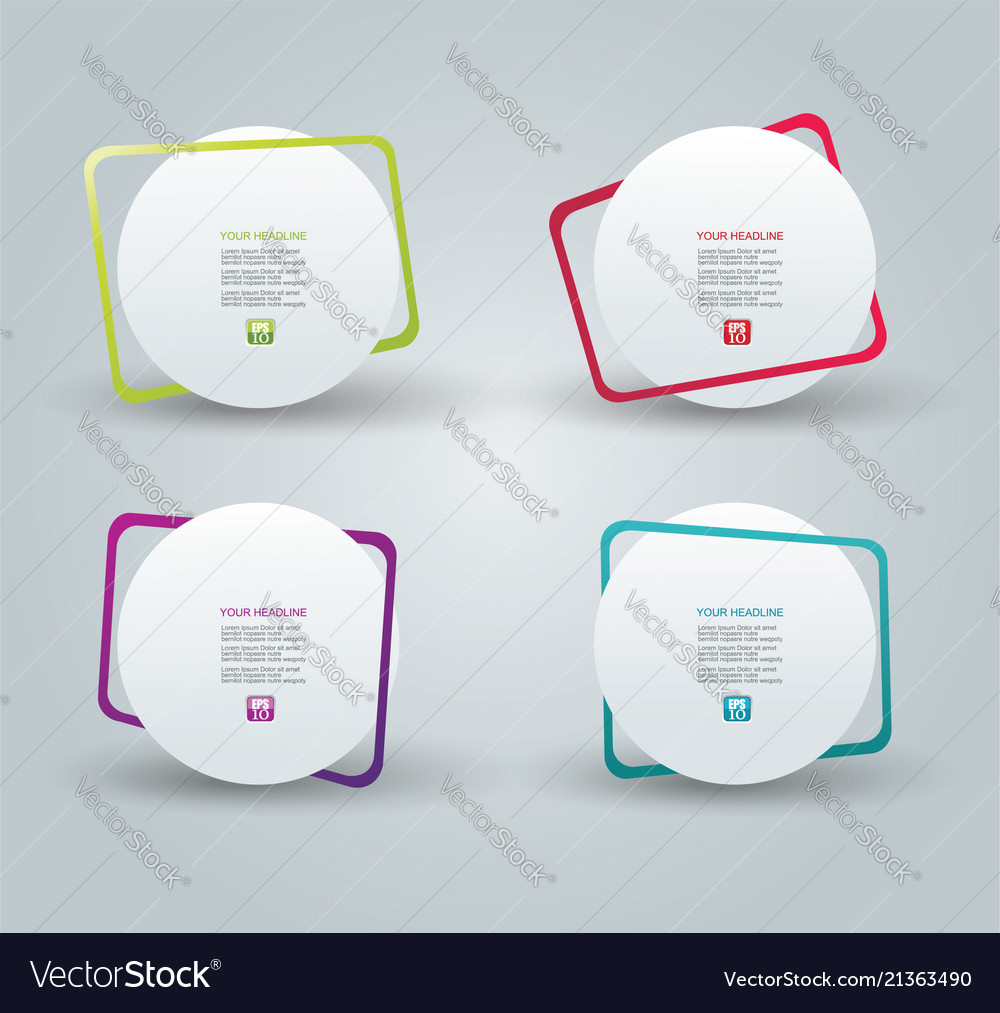 Web panel design with color frames Royalty Free Vector Image