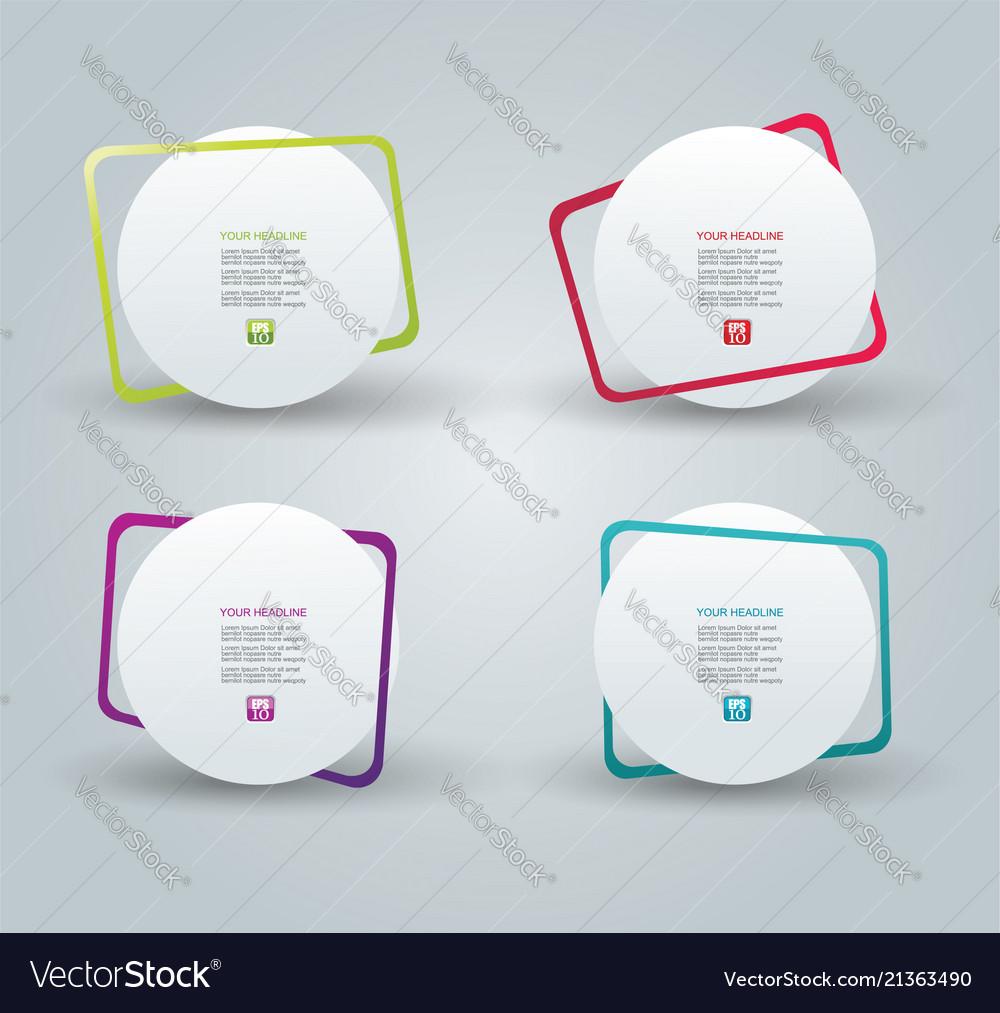 Web panel design with color frames
