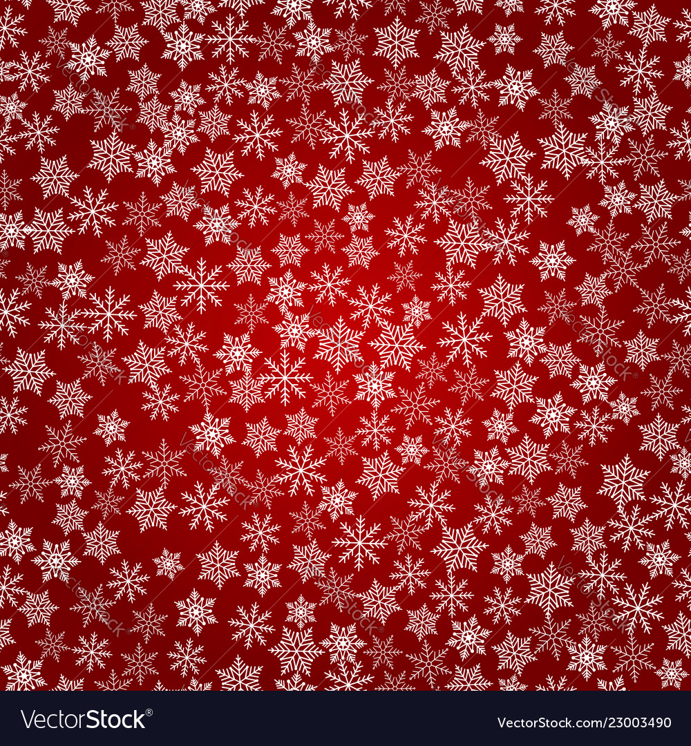 Winter snowflakes background seamless pattern