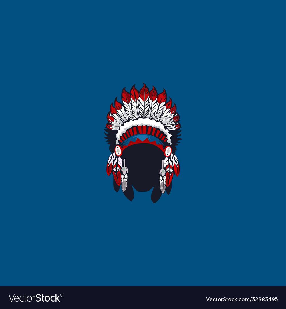 African ethnic mask logo