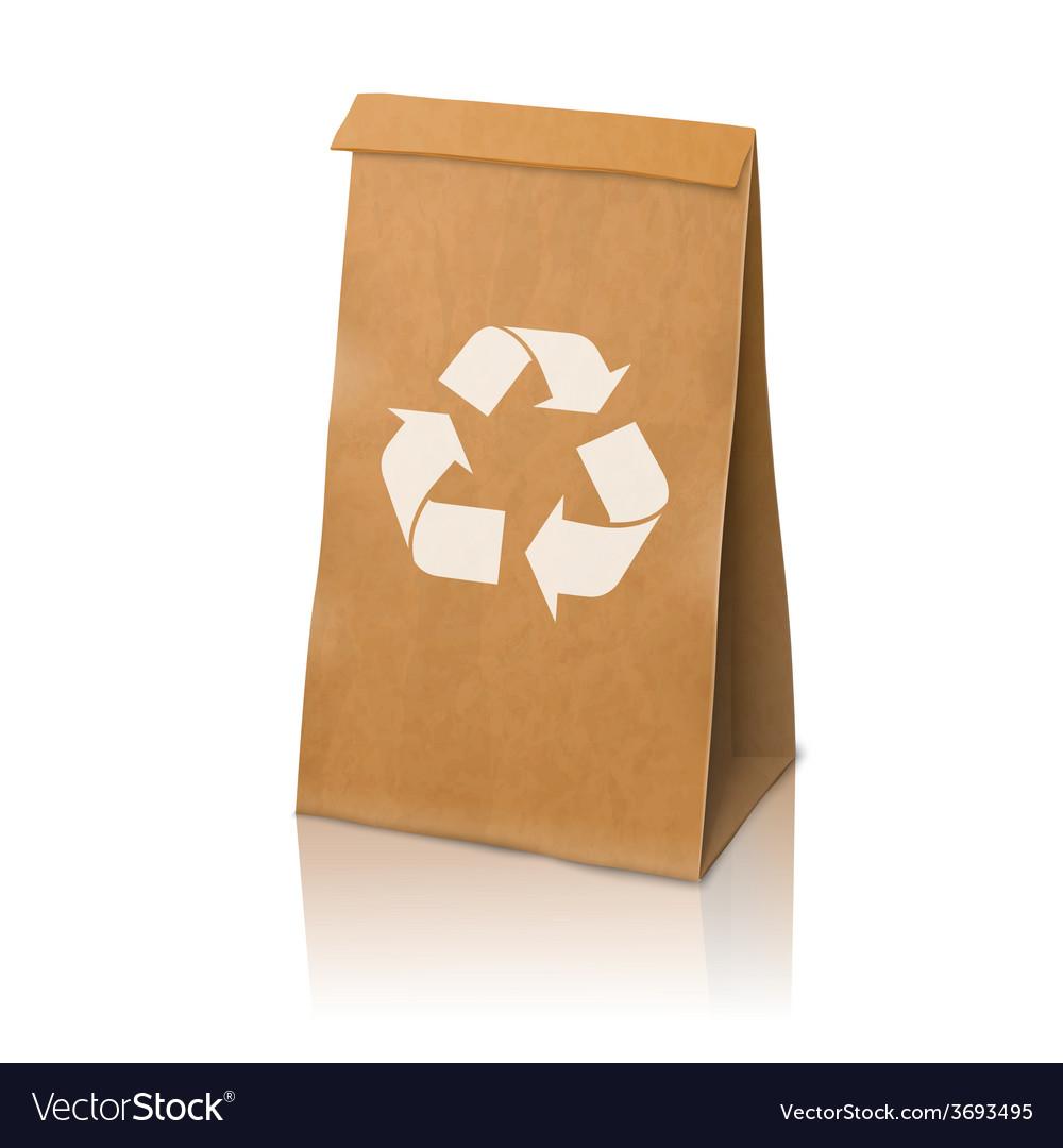 Blank craft realistic paper packaging bag