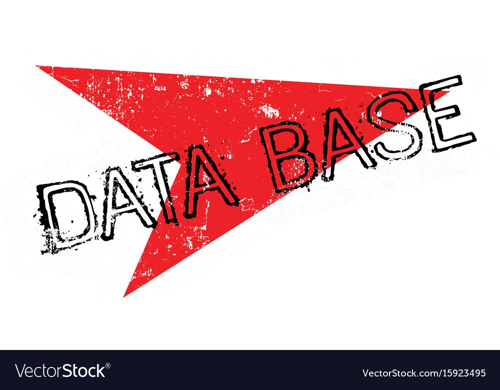 Data base rubber stamp