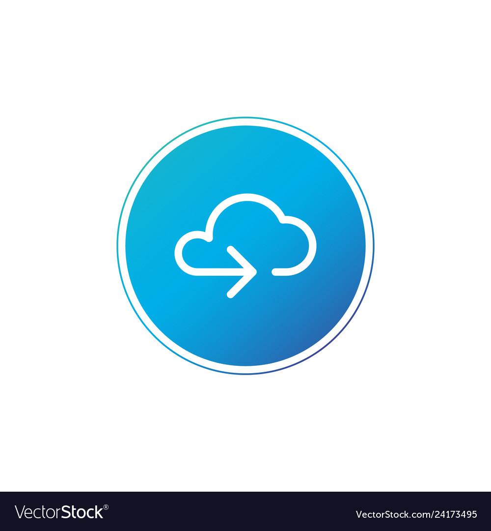 Data cloud circle button backup restore upload