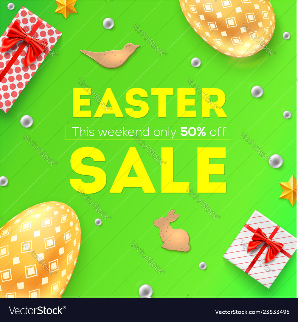 Easter sale discount 50 percent off pattern