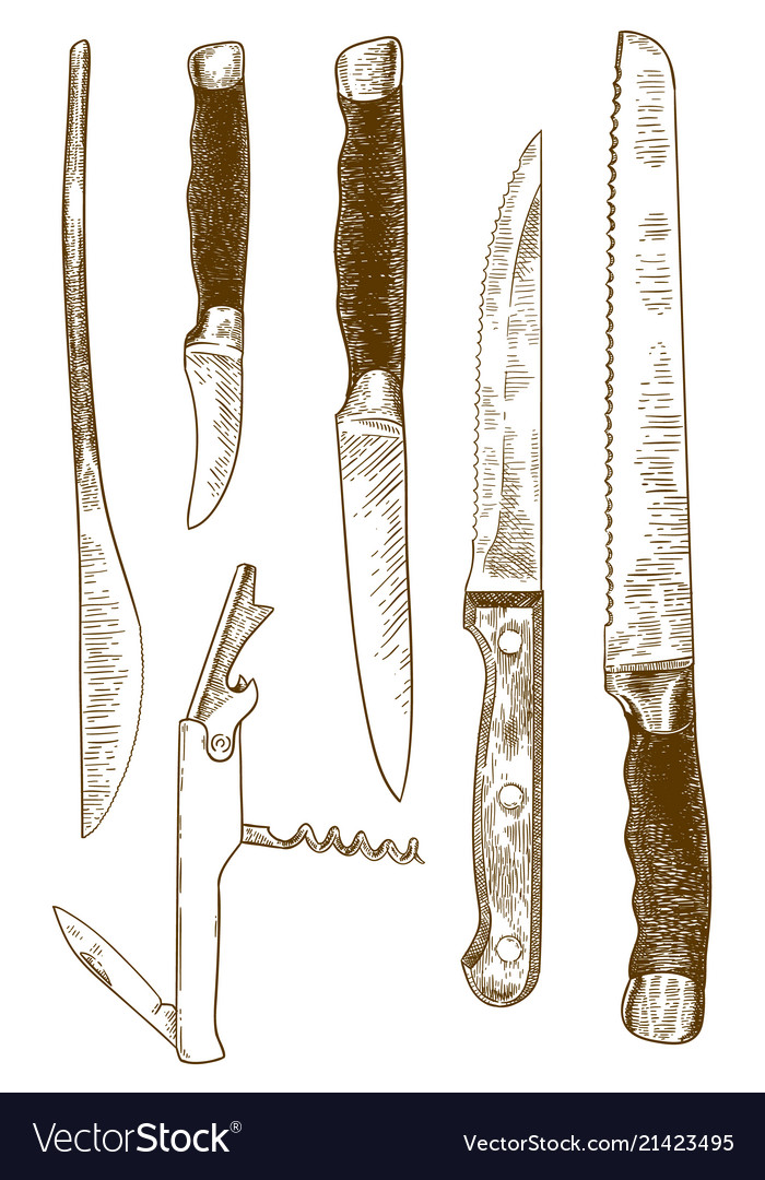 Engraving knives set