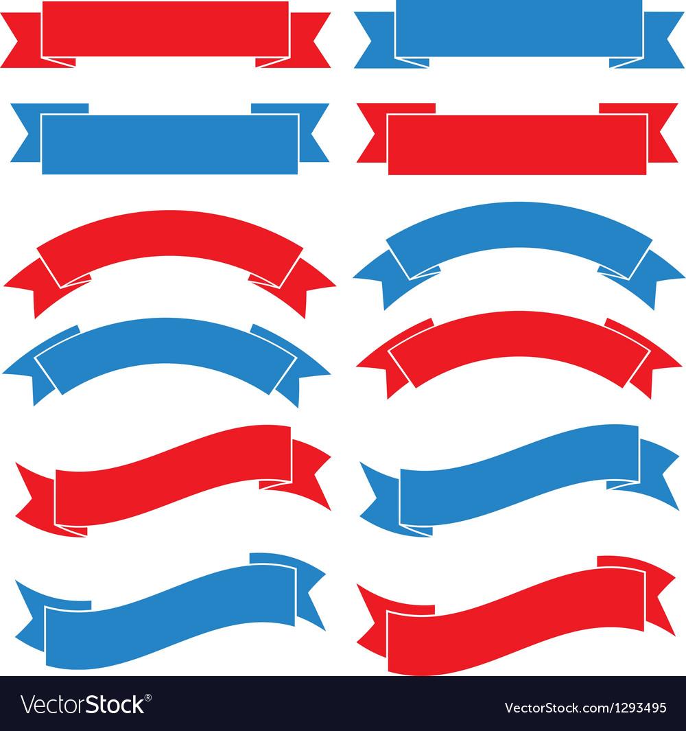 Set old ribbon banner eps10