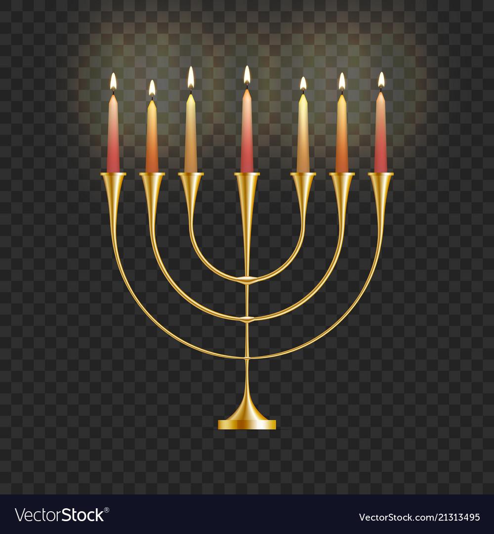 Stock hanukkah menorah with