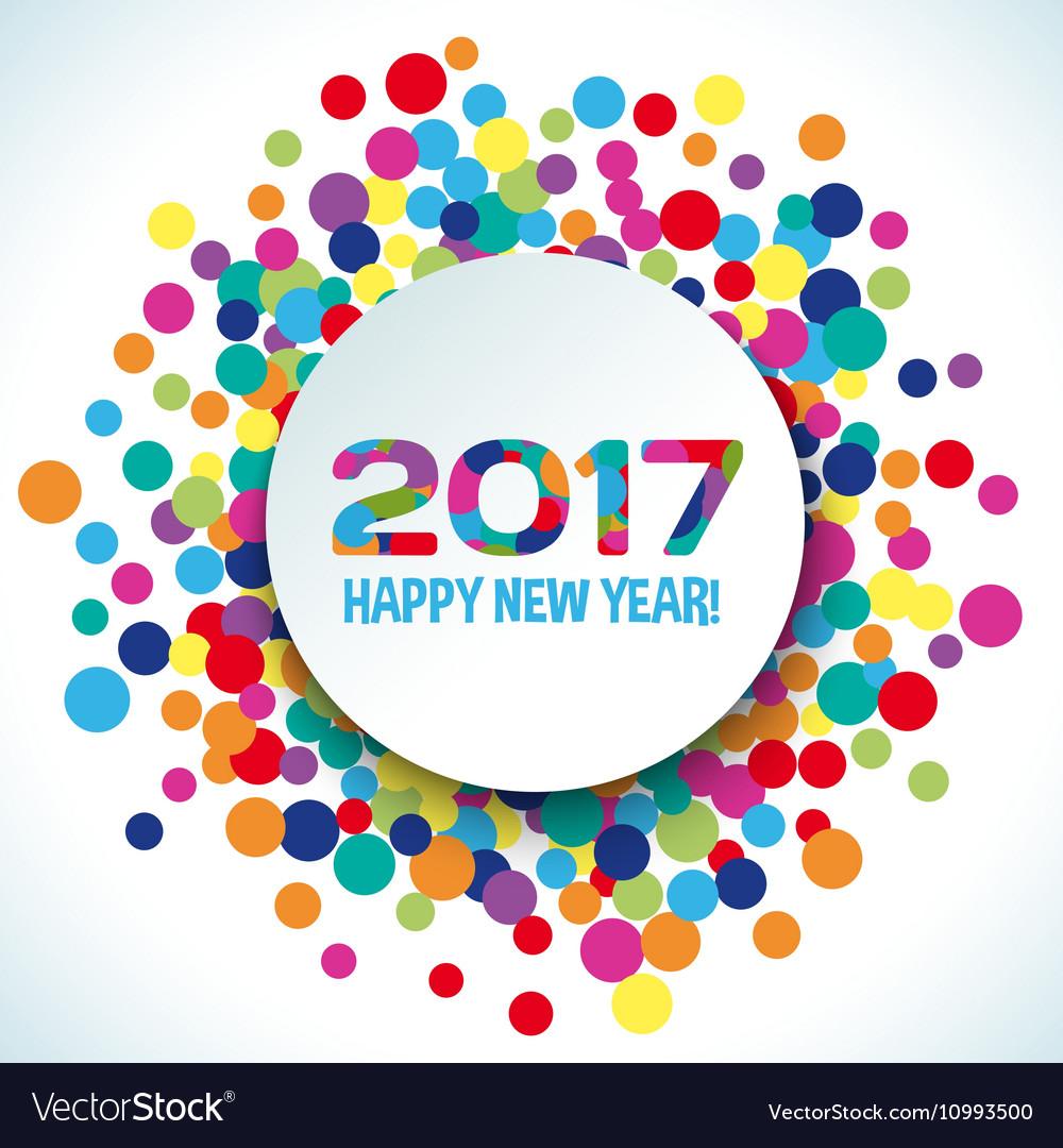 2017 Happy new year background