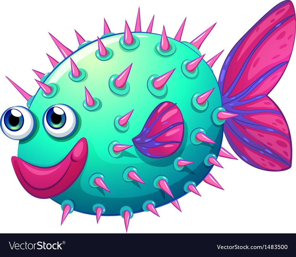 A colorful bubble fish