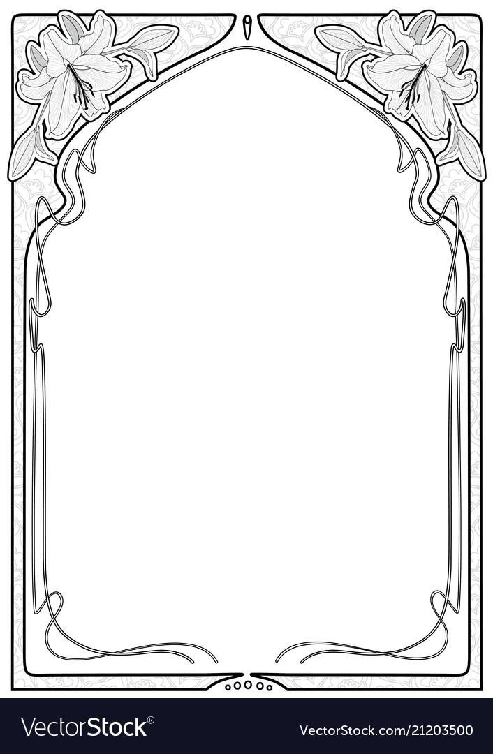 Art nouveau frames with space for text