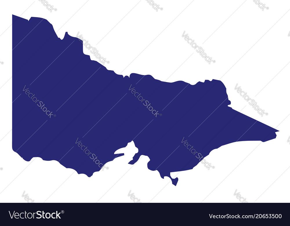Victoria State Australia Map.Australia Victoria State Silhouette Royalty Free Vector